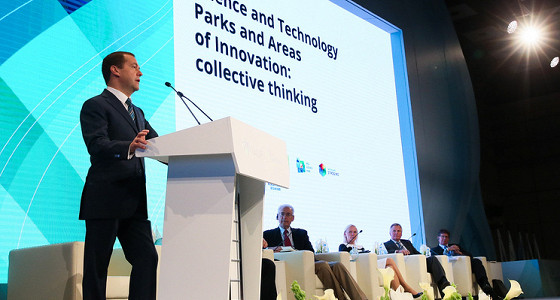 Медведев отметил институт технопарков, который дает стартапам доступ к инфраструктуре