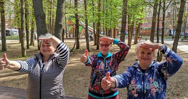 Спортивную тренировку провела специалист Центра социального обслуживания «Троицкий»