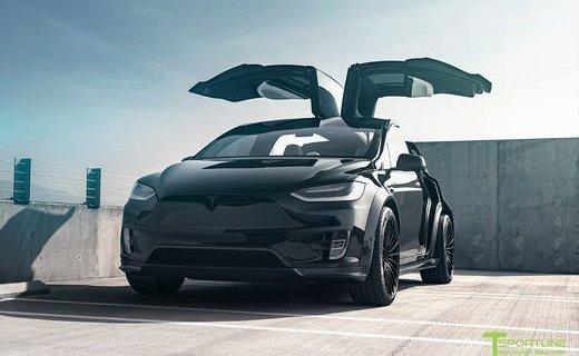 Ателье TSportline представило аэродинамический обвес длякроссовера Tesla Model X
