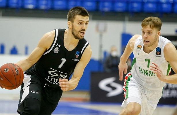 УНИКС проиграл «Партизану» вбаскетбольном Еврокубке
