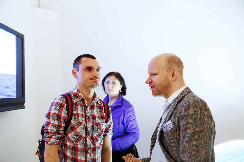 Николай Палажченко (справа) — один из основателей галереи Spider & Mouse и куратор выставки «Березовский концептуалист»