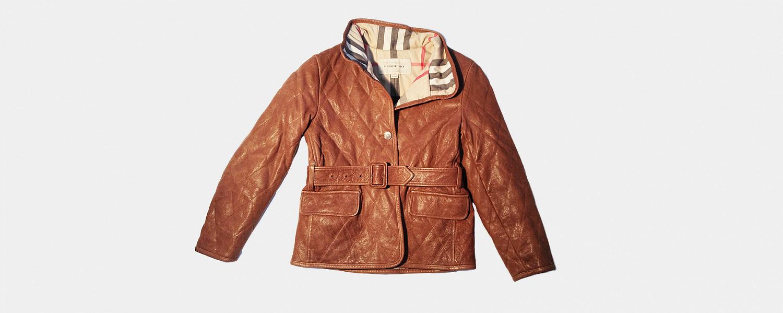 Кожаная куртка Burberry, 11000 р. вместо 25000 р.