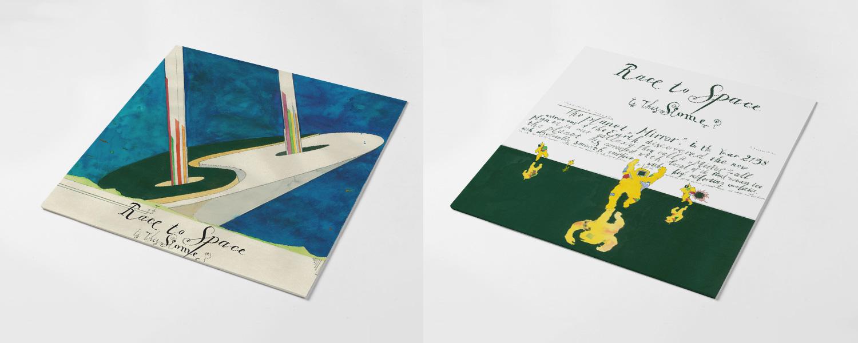 """Оформление альбому Race to Space сделал художник Павел Пепперштейн; интервью с ним можно прочитать <a href=""""https://vozduh.afisha.ru/art/pavel-peppershteyn-konec-svetaglavnyy-tovar-pri-kapitalizme/"""">здесь</a>"""