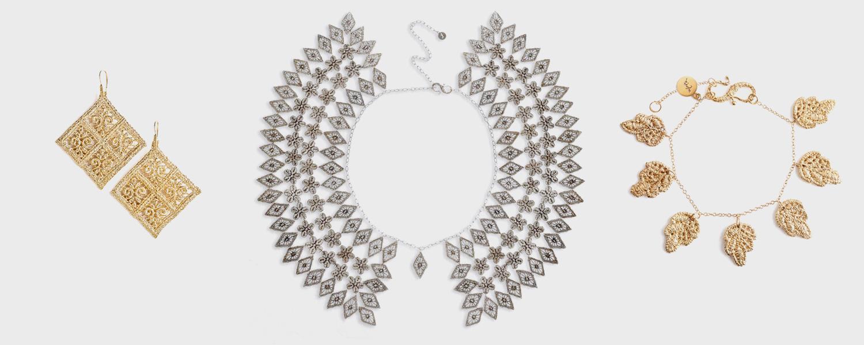 Цены от 3634 р. за серебряный браслет до 17341 р. за золотые серьги