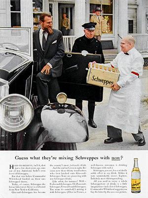 Дэвид Огилви придумал каноническую рекламу тоника Schweppes