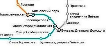 Новые станции на схеме