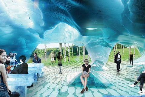 Так будет выглядеть ледяная пещера на территории нового парка