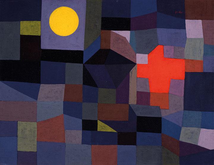 Пауль Клее. Огонь в полнолуние, 1933