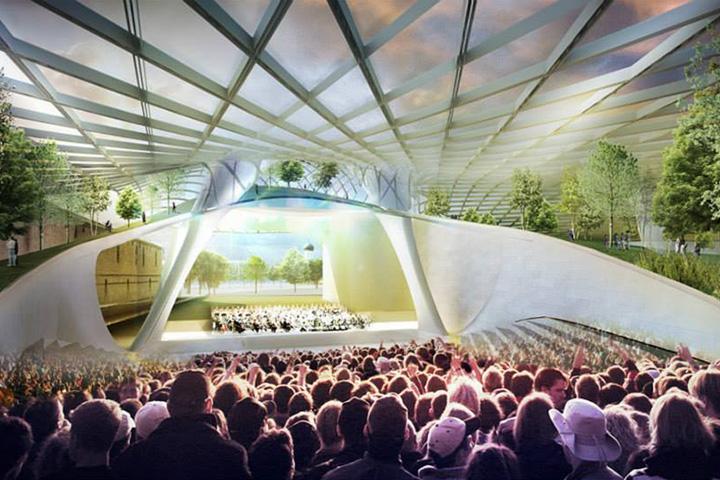 Филармония, которой будет руководить Валерий Гергиев, будет находиться под куполом с солнечными батареями