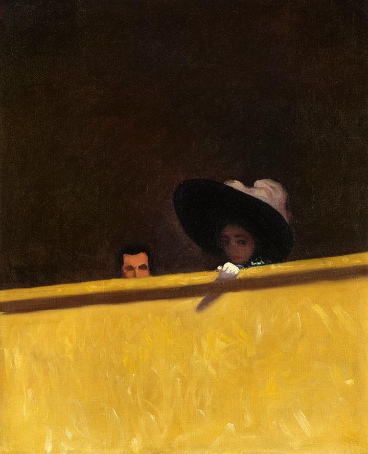 Феликс Валлотон. Леди и джентльмен в театре, 1909