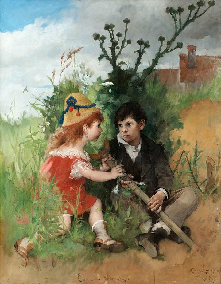 «Светотень». Карл Ларссон, 1887