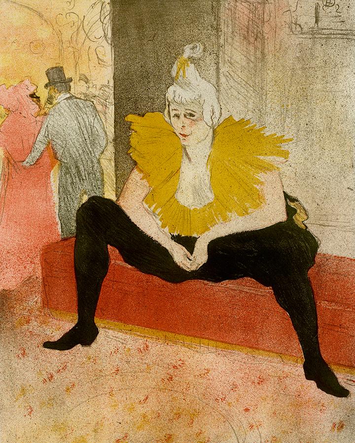 Анри Тулуз-Лотрек. Сидящая клоунесса (Ша-Ю-Као), 1896