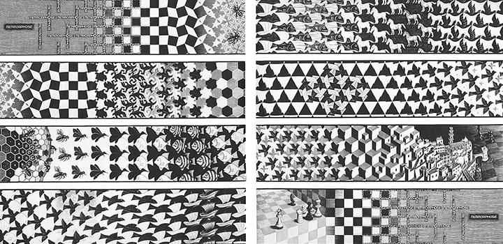 М.К.Эшер. «Метаморфоза III», 1968