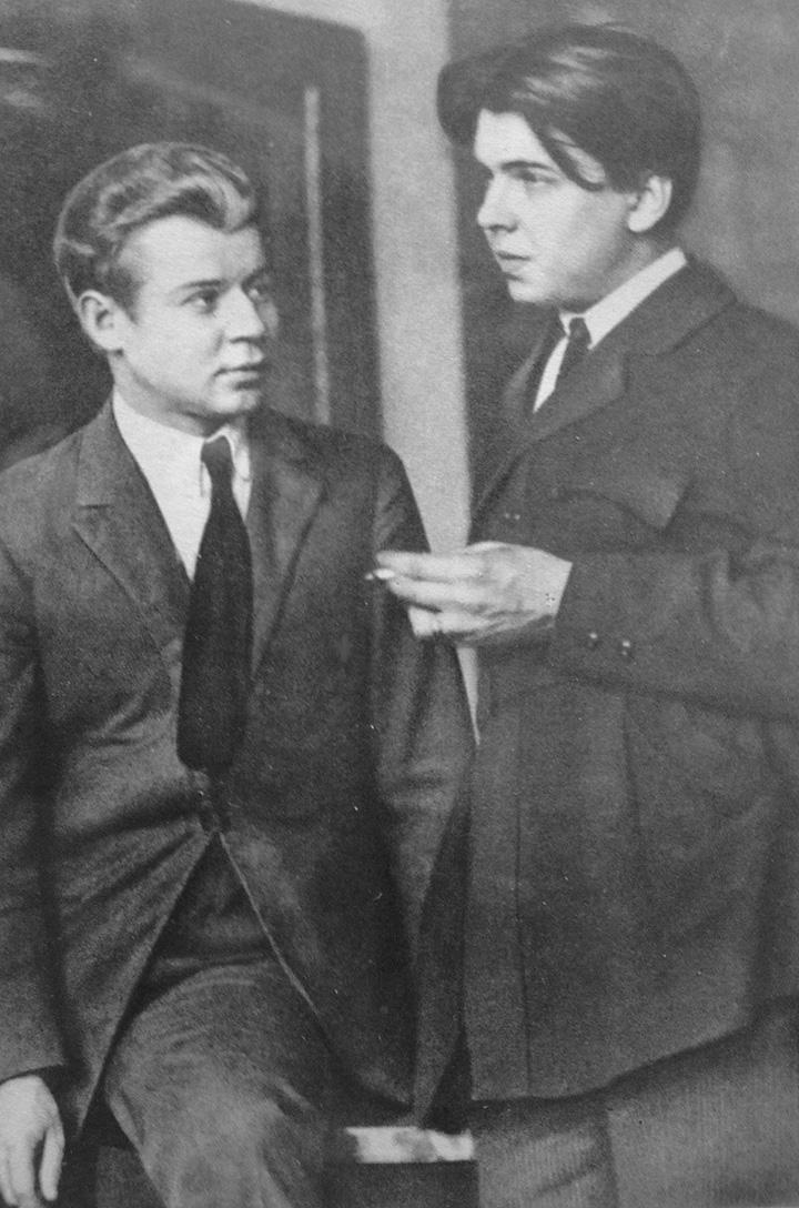 Леонид Леонов (справа) с поэтом Сергеем Есениным