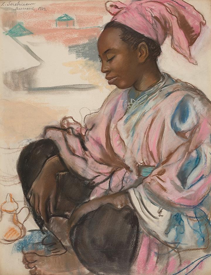 «Девушка в розовом. Марракеш», 1932