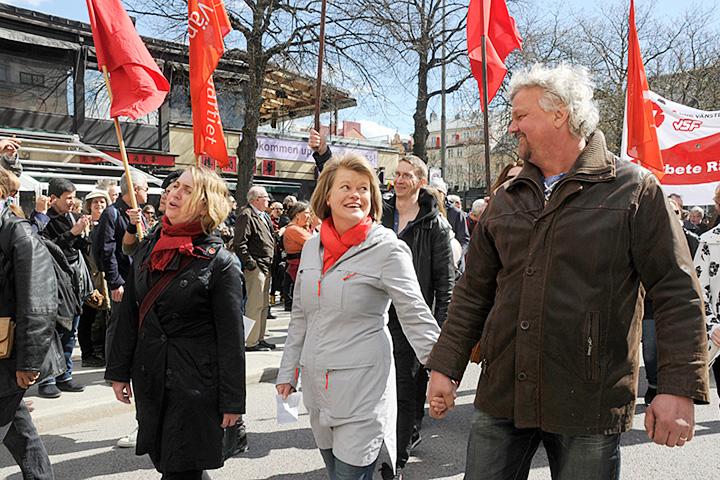 Демонстрация «Левой партии» в Стокгольме