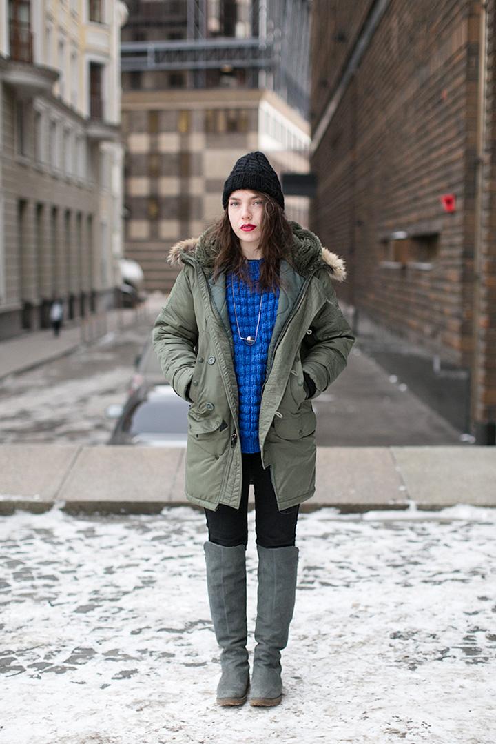 Куртка Spiewak, сапоги Asos, свитер Demidenko Dress