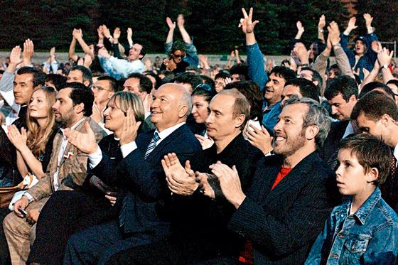 Самый элитный первый ряд в истории московских концертов, не считая корпоративов