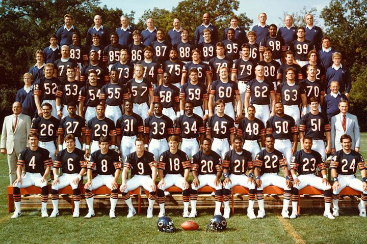 Групповой портрет команды Chicago Bears