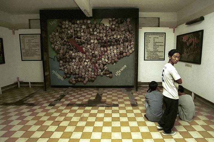 Музей геноцида Туол Сленг в Пномпене, бывшая тюрьма