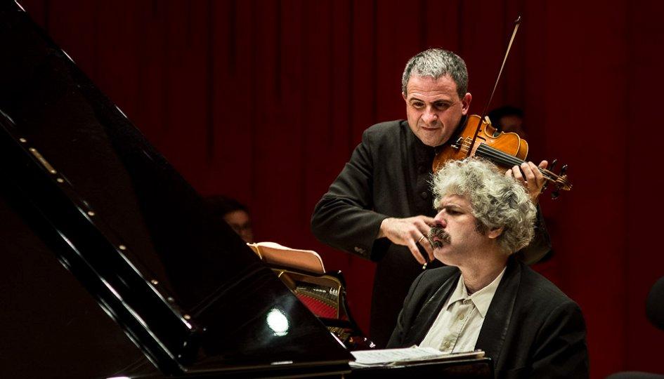 Концерты: Михаил Лидский (фортепиано), Доменико Нордио (скрипка, Италия)