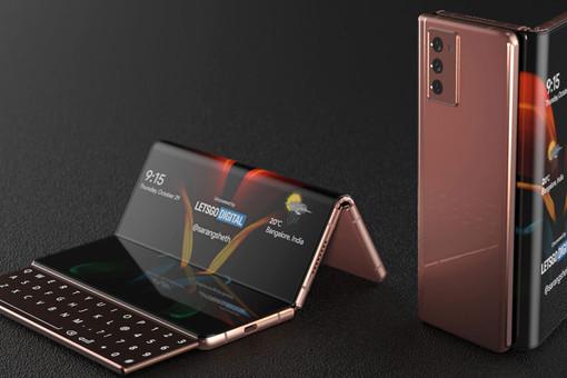 Новый Samsung: «гармошка» свыдвижной клавиатурой