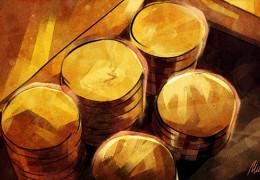 Запасы золота вроссийских банках значительно сократились