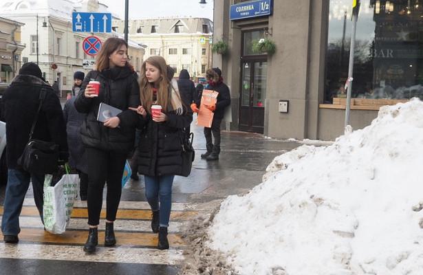 Сугробы вМоскве выросли напять сантиметров засутки