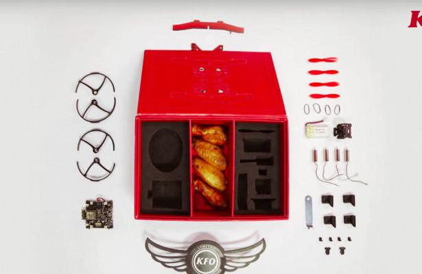 KFCначала продавать беспилотники вкоробке скуриными крыльями