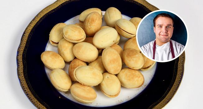 Как готовить орешки со сгущенкой
