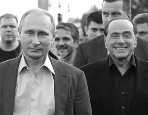 Украина иЕвропа обеспокоились визитом Берлускони вКрым