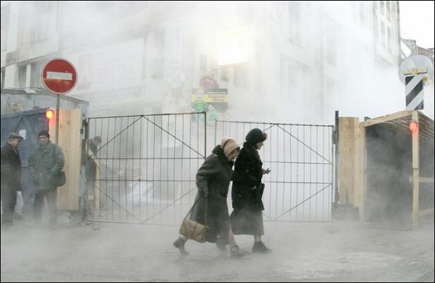 Квартиры жилого комплекса залило кипятком вМоскве