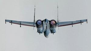 Су-27вылетел наперехват американского самолета